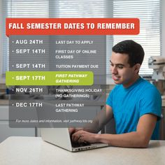 Fall semester is approaching fast! Keep these important dates in mind. #LDS #BYUIPathway