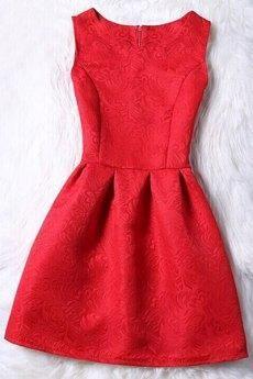 #yoshop.com - #yoshop Sleeveless Jacquard Dress - AdoreWe.com