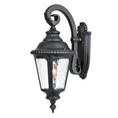 Acclaim Lighting Surrey 19.5-in H Matte Black Outdoor Wall Light