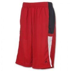 ecdb467262a NEW MENS SIZE XL NIKE JORDAN BASKETBALL SHORTS RED WHITE BLACK ATHLETIC NWT  #Nike #