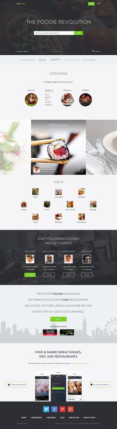 The Foodie Revolution-Landing page. http://www.serverpoint.com/