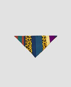Image 1 of CONTRASTING BANDANNA SCARF from Zara
