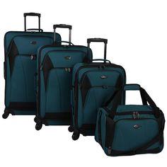 U.S. Traveler Saratoga 4-piece Expandable Spinner Luggage Set