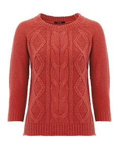 Chunky Knit Jumper - Coral