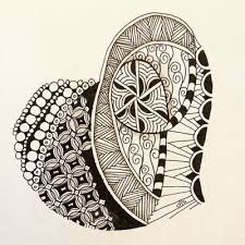 Image result for zentangle hearts
