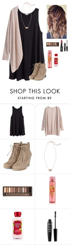 """""""Heading to a Saturday mass"""" by a-devo ❤ liked on Polyvore featuring H&M, Kendra Scott, Urban Decay and NYX"""