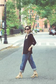 13038931735 Emilee Anne wearing Juicy Couture Sweater    Martin + Osa Blouse    Chimala  Boyfriend Jeans    Swedish Hasbeens Sandals    Celine Sunglasses    Gucci  Watch