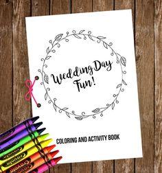 Wedding Coloring & Activity Book // Kids Wedding door CloudDesigner