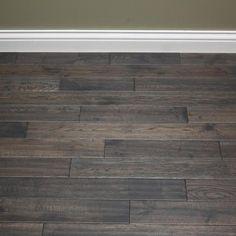 White Oak Charcoal Briquette x Hand Scraped Solid Hardwood Flooring Engineered Bamboo Flooring, Oak Hardwood Flooring, Grey Flooring, Bathroom Colors, Bathroom Sets, Charcoal Briquettes, Airstone, White Oak Floors, Waterproof Flooring