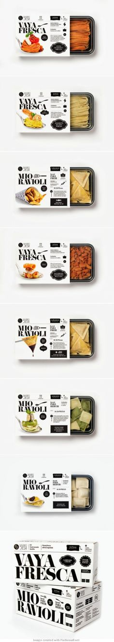 fantastic cohesive brand design for pasta packaging. Love the photography on the package and the illustrations, typography, and simple black & white design | Sandro Desii by Lo Siento