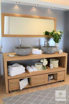 Teakfa fürdőszoba bútor