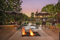 #GreatSpaces - #Encino, CA / Listed for $3,999,000 #FirePit #Pool