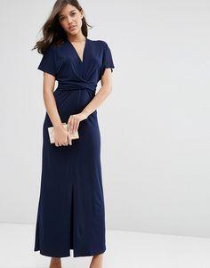 Image 4 ofASOS Wrap Tie Detail Maxi Dress