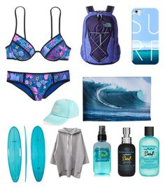 """""""Hang ten"""" by emmaraej on Polyvore featuring Victoria's Secret, The North Face, Casetify, Cultural Intrigue, Bumble and bumble and Billabong"""