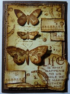 Tea Stained Butterflies - cbee's cards and more: sketch-ATC