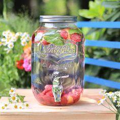 Unser Sommerliebling! Der Mason Jar Getränkespender in 4 L oder 8 L Variante! Perfekt für jede Party!