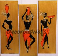 African Art in Mixed Media by DecorousWalls on Etsy