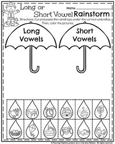 May Kindergarten Worksheets - Long or Short Vowels