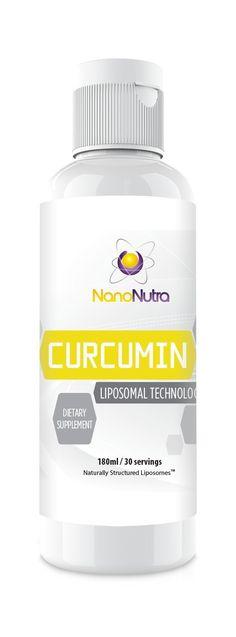 Liposomal Curcumin by NanoNutra - The Most Advanced Natural Turmeric Curcumin | Utilizing Sunflower Lecithin Liposomes for Dramatically Increased Absorption | Natural Anti-Inflammatory