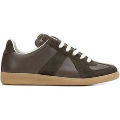 Maison Margiela  Replica  sneakers featuring polyvore, men s fashion, men s  shoes, men s sneakers, brown, maison margiela mens shoes, mens brown shoes,  ... 2f6add2d866