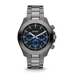 Fossil Men's CH2869 Retro Traveler Analog Quartz Grey Watch