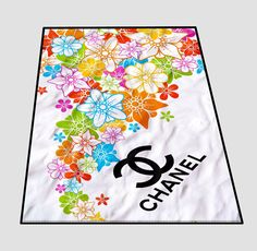 Chanel Flower logo abstrac Blanket cheap and best quality. *100% money back guarantee