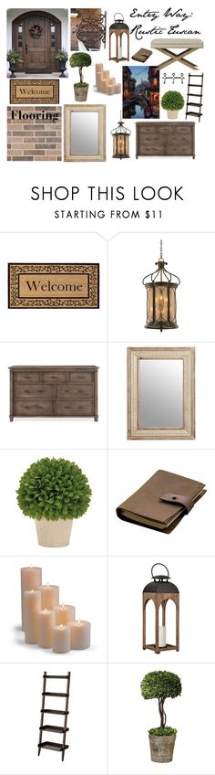 """Entry Way Design"" by kay-hair on Polyvore featuring interior, interiors, interior design, home, home decor, interior decorating, Momentum Mats, Corbett Lighting, Pier 1 Imports and Rear View Prints"