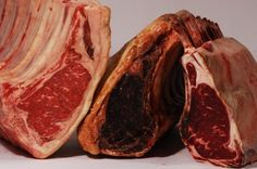 Our dry aged beef.Evaporation shrinks the beef, concentrating its flavor as it softens the meat. The result is superb beef with an extraordinarily rich flavor and buttery texture. Buy Meat Online, Dry Aged Beef, Beef Recipes, Steak, Lunch, Dinner, Food, Meat Recipes, Dining