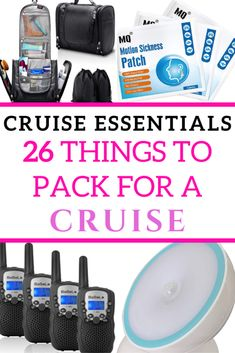 This list of 26 Cruise Essentials covers everything you need when Packing for a Cruise! I recently went on my first cruise, and realised a few things were missing in my suitcase. Use this packing list to help you pack for your next Cruise Packing Tips, Packing List For Travel, Cruise Travel, Cruise Vacation, Cruise Checklist, Travel Advice, Travel Tips, Travel Hacks, Travel Quotes