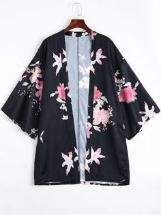 Shop for Open Front Flower Kimono Blouse FLORAL: Blouses S at ZAFUL. Only $26.99 and free shipping!