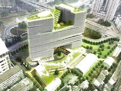 LYCS Architecture unveils nature-filled urban high-rise in Hangzhou | Inhabitat - Sustainable Design Innovation, Eco Architecture, Green Building