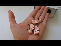 Florzinha de cetim rococó com folhinha - YouTube Satin Flowers, Felt Flowers, Diy Flowers, Fabric Flowers, Paper Flowers, Ribbon Art, Diy Ribbon, Ribbon Crafts, Flower Crafts