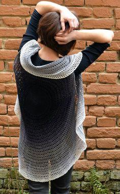 FREE crochet mandala cardigan pattern (photo by Lilla Björn Crochet) Whirl, by Scheepjes | Happy in Red