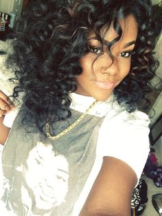 <3 the hair!! To learn how to grow your hair longer click here - http://blackhair.cc/1jSY2ux
