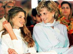 Princess Diana and Jemima Khan(daughter of Lady Annabel and Sir James Goldsmith)