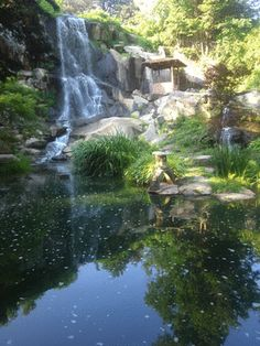 The waterfall in the Japanese garden. At Maymont park. Throat Anatomy, Depressed, Waterfalls, Planets, Wonderland, Beautiful Places, Men's Fashion, Around The Worlds, Ocean