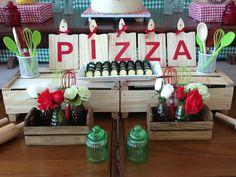 foto Pizza Party Birthday, 8th Birthday, Happy Birthday, Birthday Parties, Birthday Ideas, Ninja Party, Throw A Party, Event Decor, Birthdays