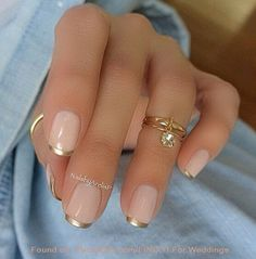 Using Metallic For A French Tip