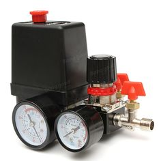 125psi Air Compressor Pressure Valve schakelaarcontrole Manifold Regulator Meters Aanbiedingen – Banggood.com