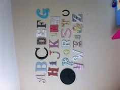 Love my new DIY playroom alphabet wall!