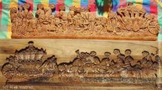 Imperial carriage - a wooden form for gingerbread carved by Aleš Vostřez