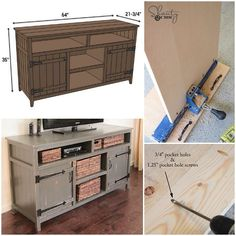 Using their @kregjig, Ashley & Whitney at @shanty2chic built this DIY Media Console. We ❤️ its rustic look, plus all of its function and storage! Check out the build at Shanty-2-Chic.com, and get the FREE plans from Jamison (@rogue_engineer) at RogueEngineer.com