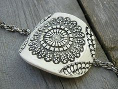 Lace Oval Cuff  Black and White by natashajcollection on Etsy, $32.00