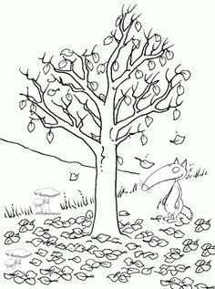 loup arbre automne