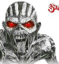 Pitbull Drawing, Iron Maiden Albums, Iron Maiden Posters, Eddie The Head, Gas Mask Art, Beautiful Dark Art, Biomechanical Tattoo, Heavy Metal Rock, Extreme Metal