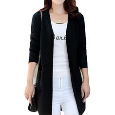 Women s Open Front Knit Long Sleeve Pockets Sweater Cardigan     Continue  to the product 4e2d877bc