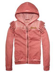 Garment Dyed Zip-Through Sweater