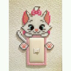 Oh this is cute! What a cute idea! And could do it with any perler design!