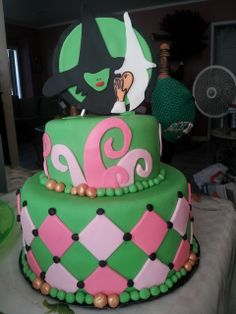 """Cake from a """"Wicked"""" party #wickedparty #cake"""