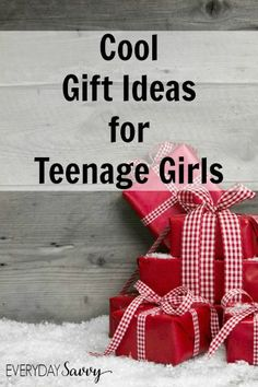 Cool Gift Ideas for Teenage Girls It can be challenging to find neat things to give to your teen girls, but we are here to help. We have found some great gift ideas for teen girls that fall into a